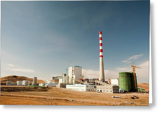 New Coal Fired Power Plant Greeting Card