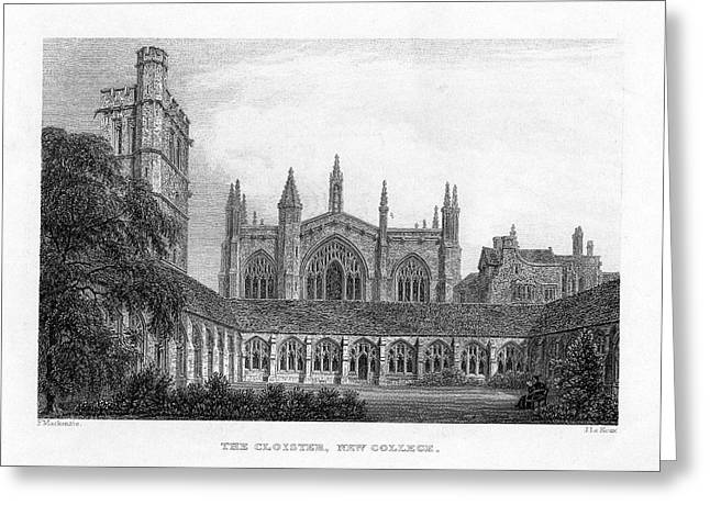 New College Cloisters Greeting Card by Oxfordshire History Centre/oxford University Images