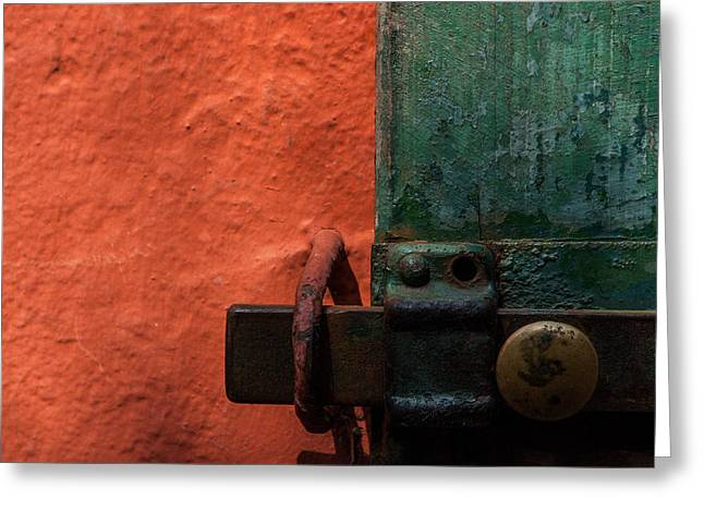 New Color Scheme Camouflages Rust And Mold Greeting Card