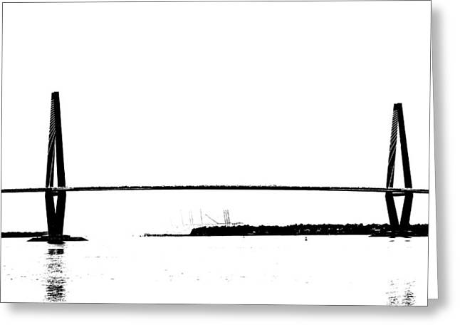 New Cooper River Bridge Greeting Card by Philip Zion