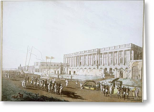 New Court House And Chandpal Ghaut Greeting Card by British Library