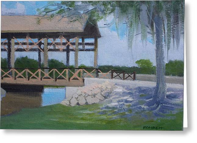 New Covered Bridge Greeting Card by Robert Rohrich