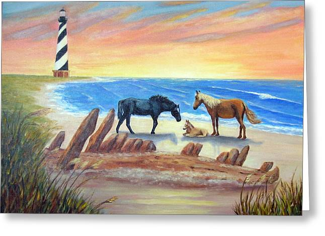 New Day - Hatteras Greeting Card by Fran Brooks
