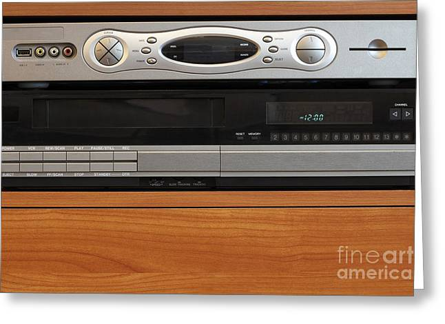 New Dvr With Old Vcr Greeting Card by Lee Serenethos