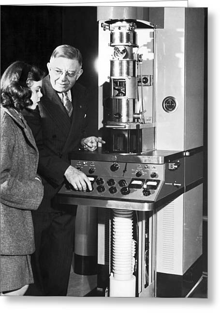 New Electron Microscope Greeting Card by Underwood Archives