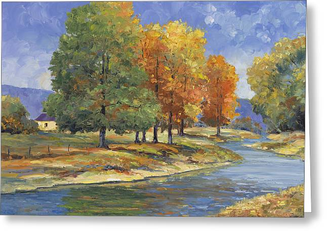 New England Autumn Greeting Card by John Zaccheo