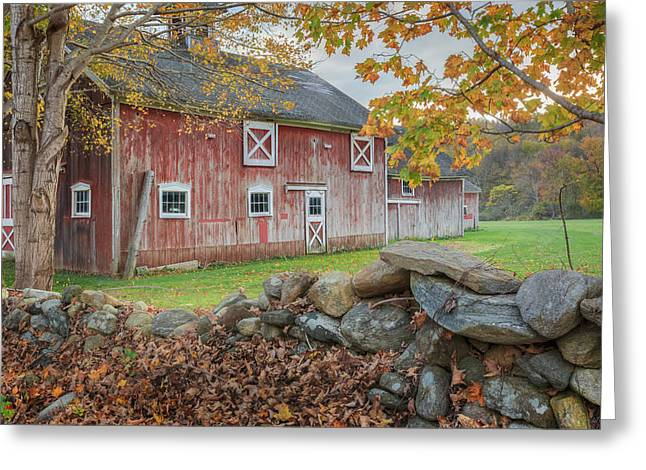 New England Barn Greeting Card by Bill Wakeley