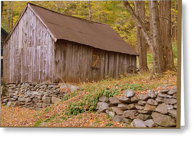 New England Barn Greeting Card