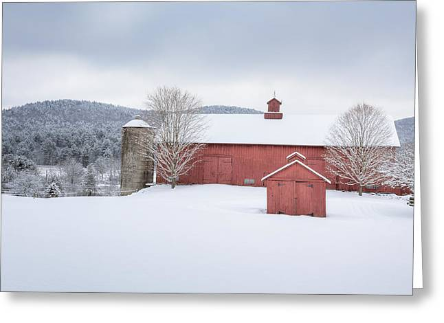 New England Barns Greeting Card