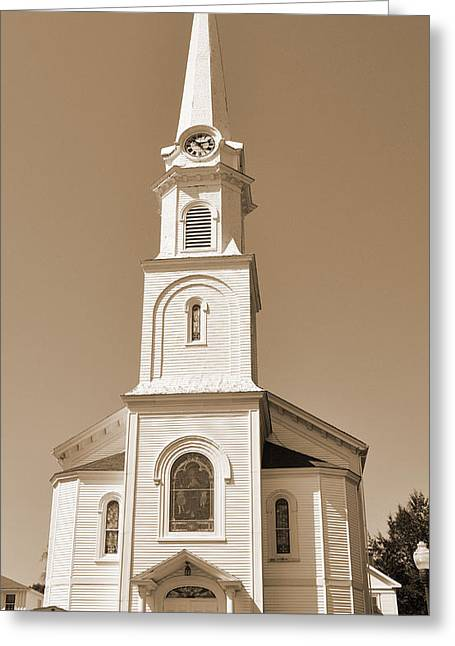 New England Church Steeple Greeting Card