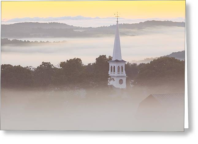 New England Dawn Greeting Card by Alan L Graham