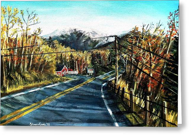 New England Drive Greeting Card by Shana Rowe Jackson