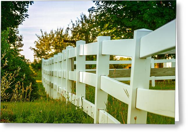 New England Fenceline Greeting Card