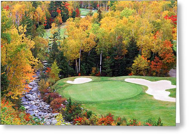 Autumn Colors Greeting Cards - New England Golf Course New England Usa Greeting Card by Panoramic Images