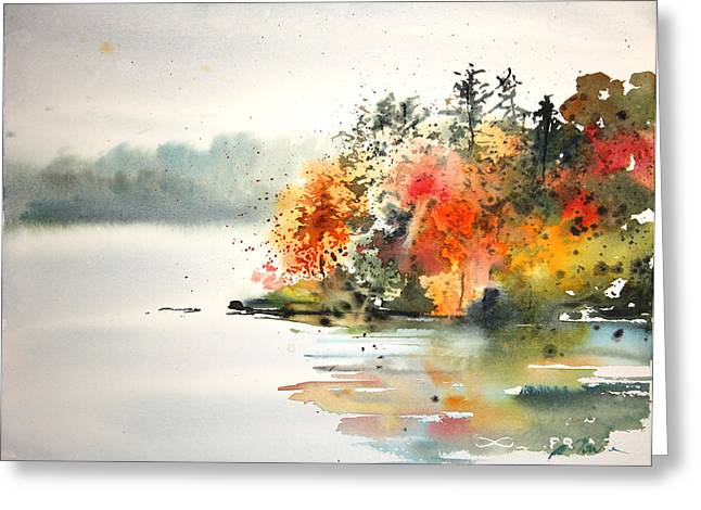 New England Landscape No.122 Greeting Card by Sumiyo Toribe