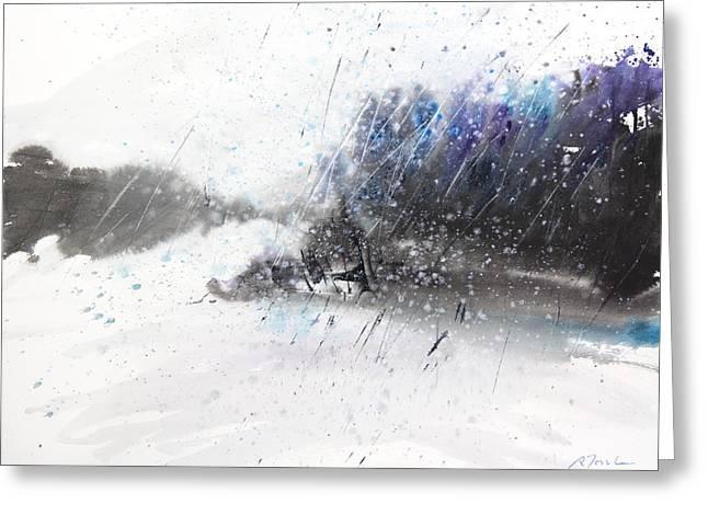 New England Landscape No.215 Greeting Card by Sumiyo Toribe
