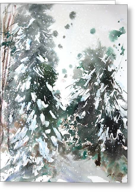 New England Landscape No.223 Greeting Card by Sumiyo Toribe