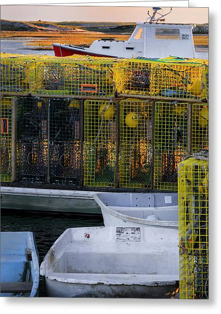 New England Lobster Season Greeting Card by Bill Wakeley