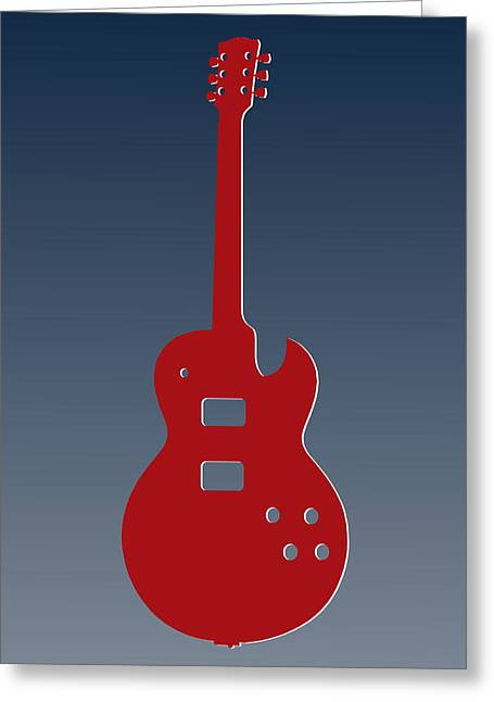 New England Patriots Guitar Greeting Card