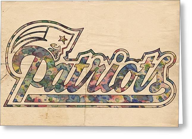 New England Patriots Logo Art Greeting Card