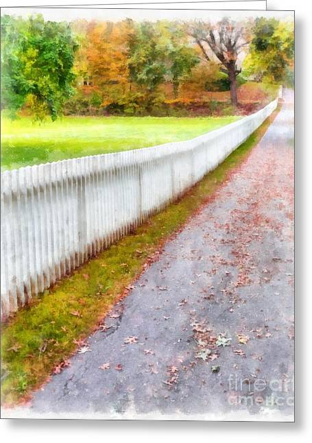 New England Picket Fence Greeting Card