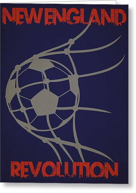 New England Revolution Goal Greeting Card by Joe Hamilton