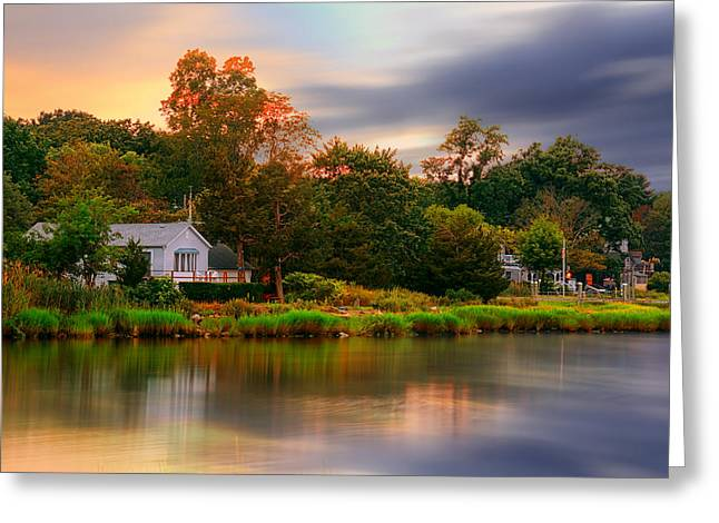New England Setting Greeting Card by Lourry Legarde