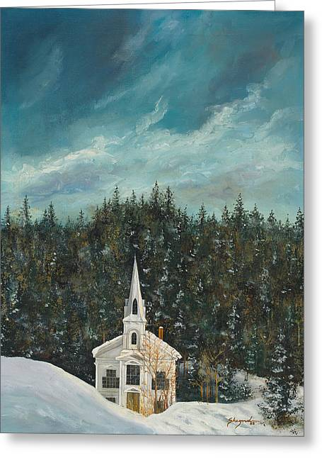 New England Winter Greeting Card by Michael Shegrud
