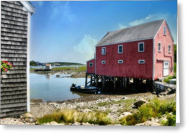 New England's  Maine Greeting Card by Diana Angstadt