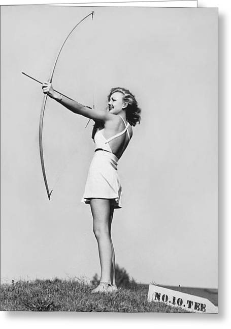 New Fad Archery Golf Greeting Card by Underwood Archives