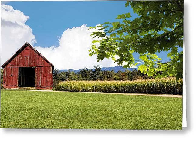 New Hampshire Barnyard Greeting Card