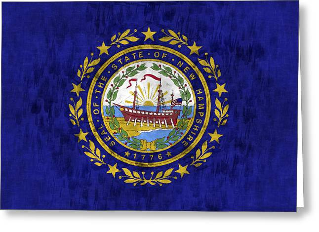 New Hampshire Flag Greeting Card by World Art Prints And Designs