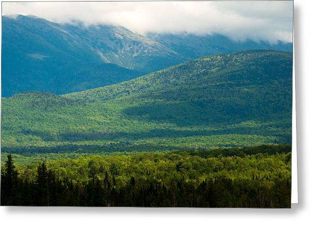New Hampshire Mountainscape Greeting Card by Nancy De Flon