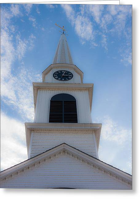 New Hampshire Steeple Dreamy View Greeting Card by Karen Stephenson