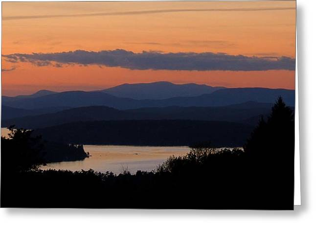 New Hampshire Sunset Greeting Card