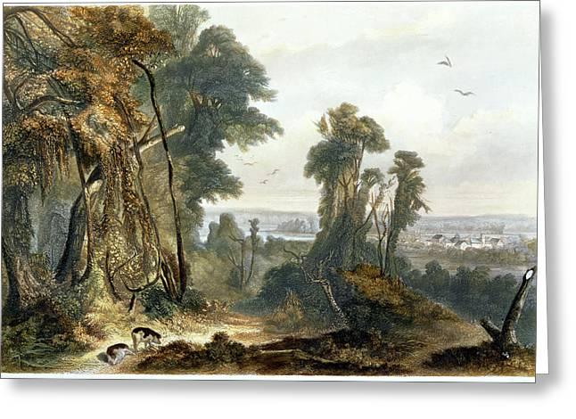 New Harmony On The Wabash, Plate 2 Greeting Card by Karl Bodmer