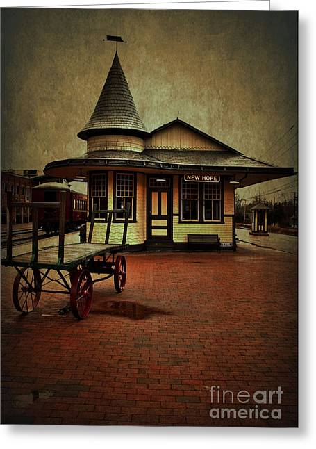 Greeting Card featuring the photograph New Hope Ivyland Train Station by Debra Fedchin