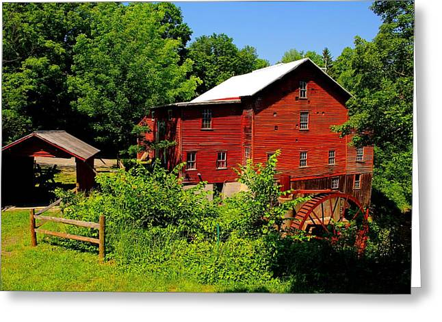 New Hope Mill Greeting Card by Dave Files