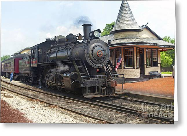 New Hope Station Greeting Card by Paul W Faust -  Impressions of Light