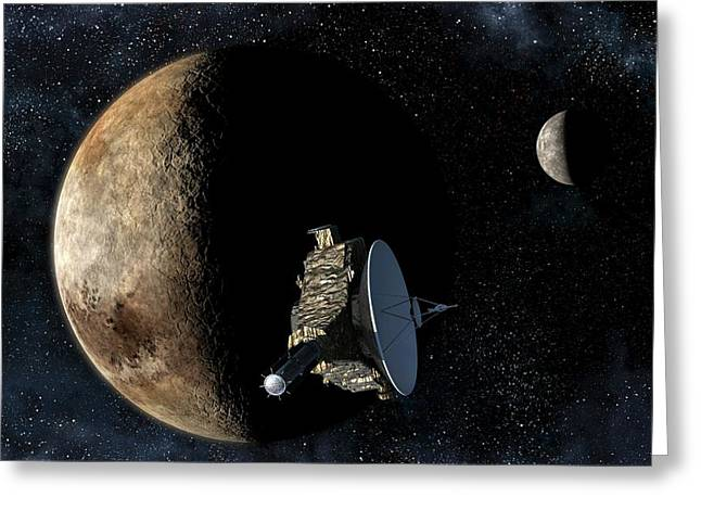 New Horizons Closest Approach To Pluto Greeting Card by Take 27 Ltd