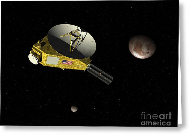 New Horizons Spacecraft Approaches Greeting Card