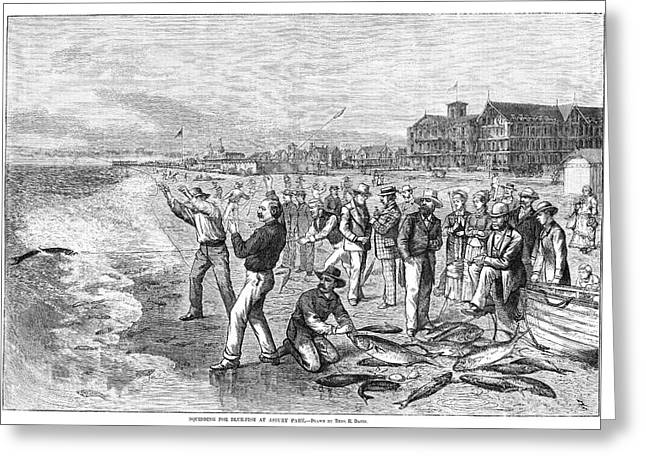 New Jersey Fishing, 1880 Greeting Card by Granger