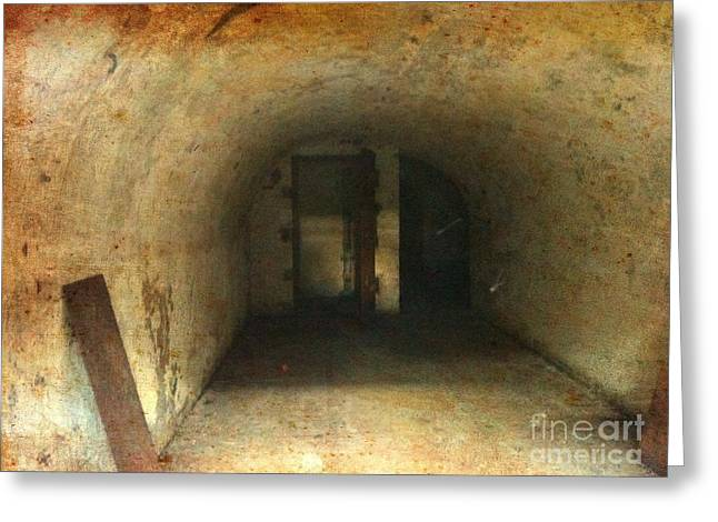 Greeting Card featuring the photograph New Jersey Military Cave by Denise Tomasura