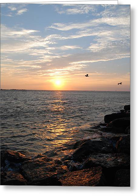 New Jersey Sunrise Greeting Card by Kathy Gibbons
