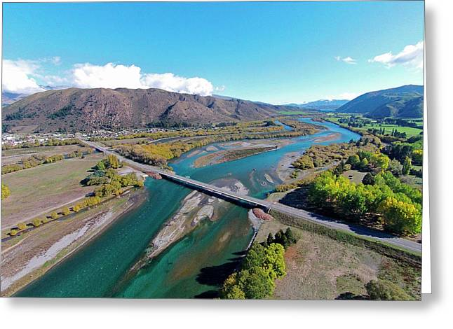 New Kurow Bridge Over Waitaki River Greeting Card