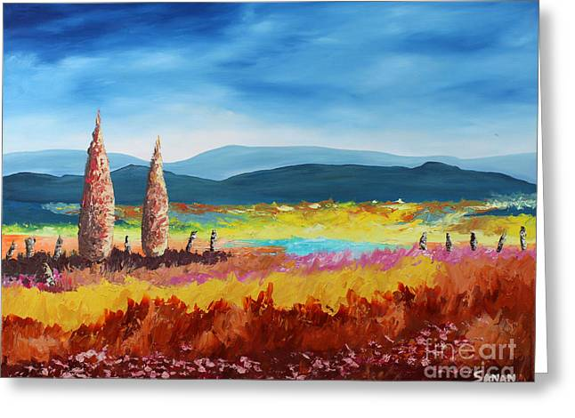New Land Greeting Card by Andrew Sanan