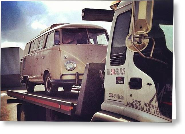 New Life And Look Soon! #vw #bus #67 Greeting Card