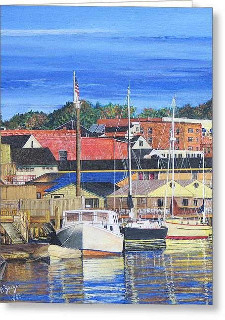 New London Marina Greeting Card