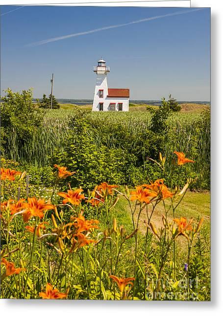 New London Range Rear Lighthouse Greeting Card by Elena Elisseeva