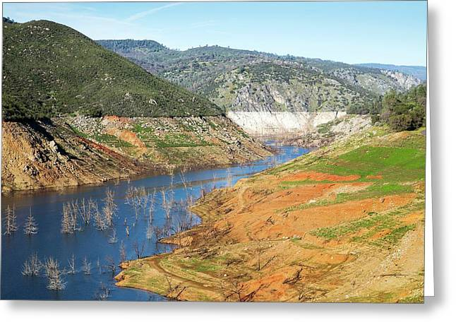 New Melones Lake Drought Greeting Card by George Post